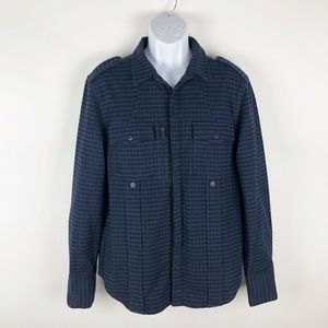 Seven for All Mankind Mens Military Flannel Jacket
